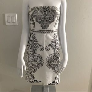 New York & Company embroidered strapless dress